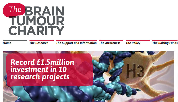 The Brain Tumour Charity portfolio image